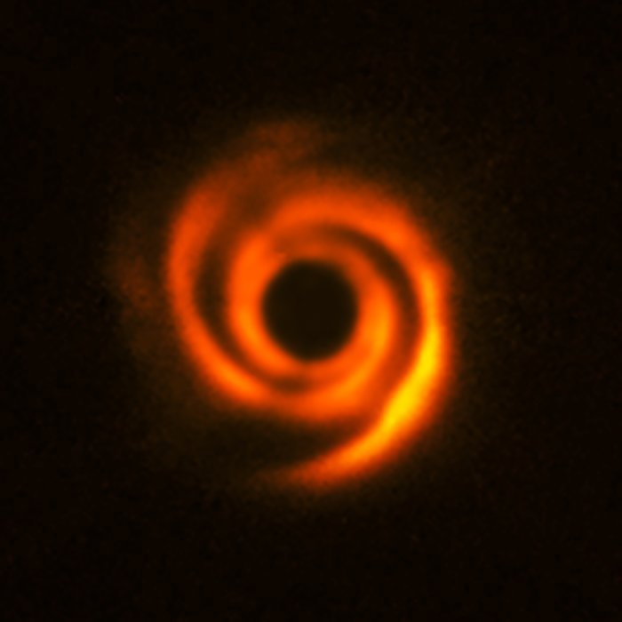 Example of a protoplanetary disk