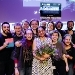 The participants of the Dutch final of FameLab 2019, with in the middle UvA astronomer Athira Menon, winner of both the audience award and jury award.