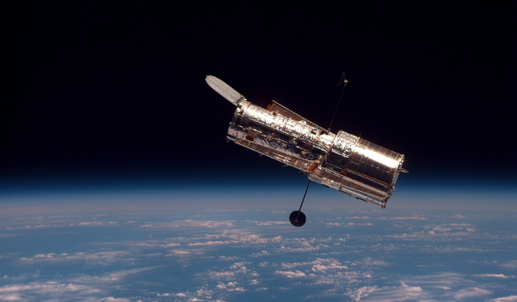 The Hubble Space Telescope, as seen from Space Shuttle Discovery. Image: NASA