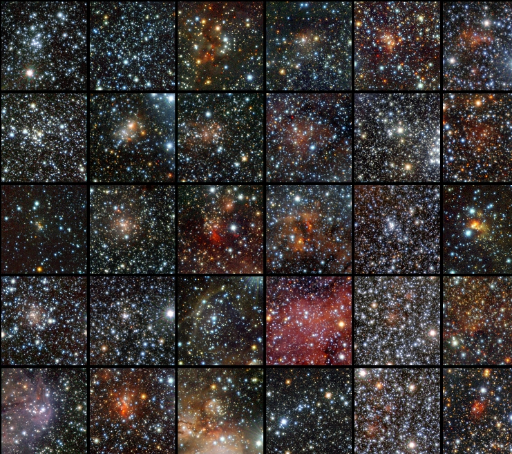 A diverse collection of star clusters